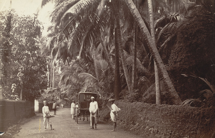On the road to the old 'Marine Lines', Bombay.