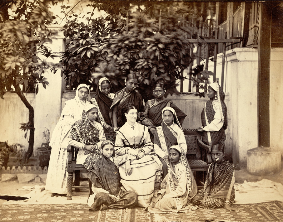 Group of mistress and pupils of the Government Normal School, Bombay