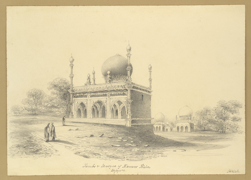 Tombs mosque of kowars kahn beejapore bijapur
