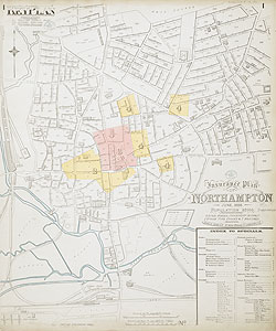 Insurance Plan of Northampton 1888 Key Plan 1
