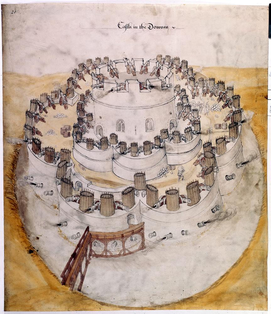 Design for Henrician castle on the Kent coast