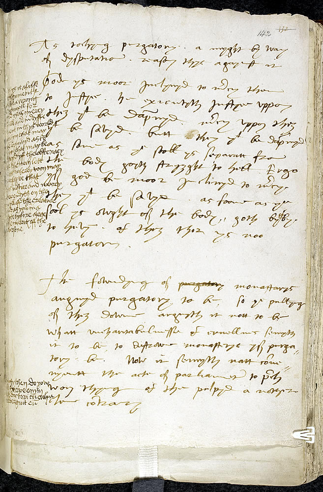 Bishop of Worcester's writing on purgatory, with notes by Henry VIII