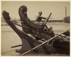 Rice boat on the Irrawaddy, Rangoon