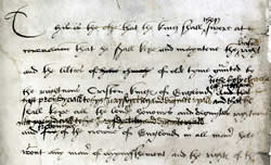 Coronation of Henry VIII with notes by Henry